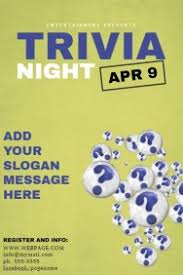 customizable design templates for trivia night flyer template