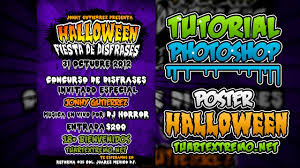 tutorial photoshop poster fiesta de halloween youtube
