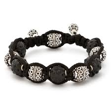 copper bead bracelet images Shamballa bracelet with black rhinestone beads copper beads jpg