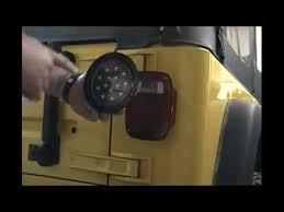 jeep wrangler tj led flush mount running and brake lights youtube