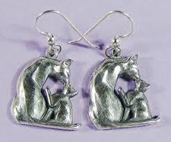 20 s earrings cat n kitten silhouette earrings cat of mine
