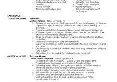 Babysitter Resume Template Grand Sample Resume Template 8 16 Free Resume Templates Resume