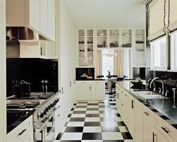 Roman Shades Black - white roman shade with black and white floor tile kitchen