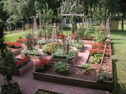 Potager Garden Layout Potager Style Food Garden In Cool Patterns Vegetable