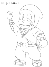 ninja hattori coloring page for kids