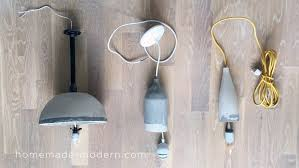 How To Make Homemade Concrete by Homemade Modern Ep104 Concrete Lamps 2 0