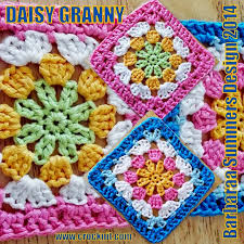 free pattern granny square afghan microcknit creations daisy granny square crochet free pattern