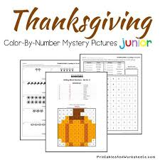 thanksgiving color by number counting greater than less than