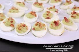 deviled egg carrier avocado bacon deviled eggs around my family table