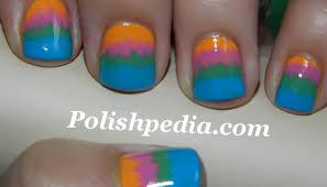 fan brush tie dye polishpedia nail art nail guide shellac