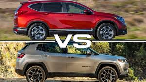 honda jeep 2016 2017 honda cr v vs 2017 jeep compass youtube