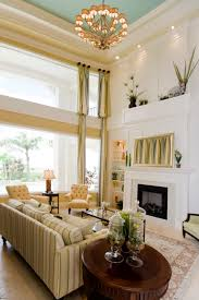 Two Story Fireplace Creative Two Story Living Room Decorating Ideas 69 Concerning