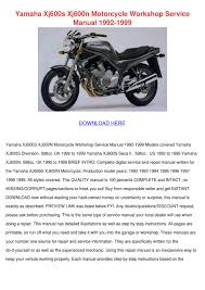 yamaha xj600s xj600n motorcycle workshop serv by meghan capehart