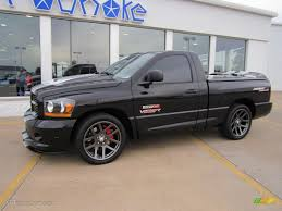 2006 black dodge ram 1500 srt 10 night runner regular cab
