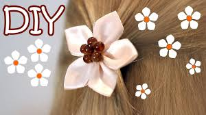 kanzashi hair ornaments diy easy kanzashi flower tutorial how to make 5 petals ribbon