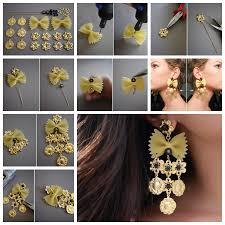 earrings diy wonderful diy pasta earring