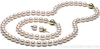 pearl earrings necklace images Best pearl necklace and earring set photos 2017 blue maize jpg