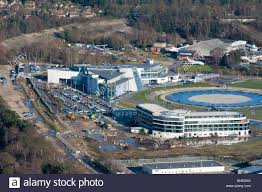 mercedes brooklands aerial view of mercedes at brooklands foreground