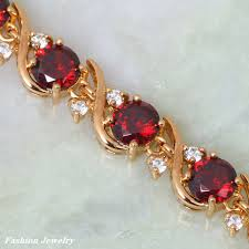 red garnet bracelet images New 2017 yellow gold bracelet red garnet bracelets for women 39 s jpg