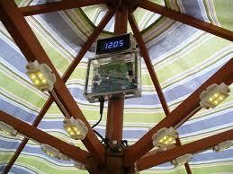 Patio Umbrella Lighting Solar Lights For Patio Umbrellas Home Design Ideas And Pictures