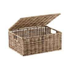 storage basket with lid