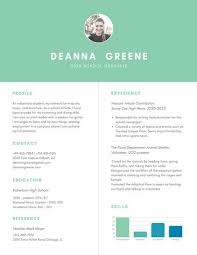 High Student Resume Template By by Green Simple High Resume Templates By Canva
