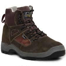 mens safety shoes leather work boots steel toe cap grounwork