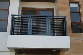 modern exterior latest balcony railing designs for modern exterior home