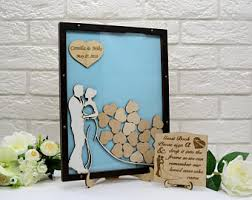 wedding wishes guest book guest book frame etsy