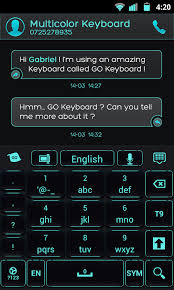 go keyboard theme apk go keyboard black cyan theme android apps on play