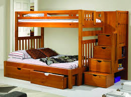 Bunk Bed Nightstand Bedroom Bunk Bed With Storage Bunk Beds With Drawers Donco Kids