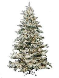pre lit flocked tree artificial trees