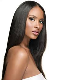 long black hair with part in the middle middle part bone straight naomi wig anya hair
