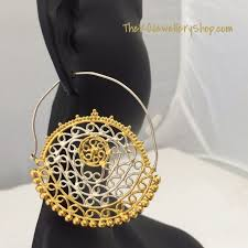 hoops earrings india the golden hoop earrings big buy gold plated earrings