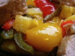 cuisiner un filet mignon de porc en cocotte filet mignon de porc en cocotte confit de poivrons et ananas