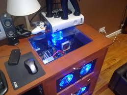 Diy Gaming Desk by Best Custom Pc Cases This Custom Built Computer Desk Case Will
