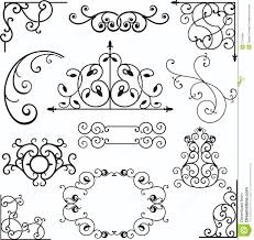 wrough iron ornaments stock vector image of floral fence 3739490