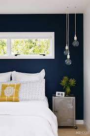bedroom design awesome feature wall ideas blue accent wall dark