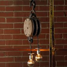 Pulley Pendant Light Repurposed Single Pulley Pendant Light Shades Of Light