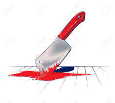 sharp kitchen knife blade in blood royalty free cliparts vectors