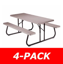 lifetime 42119 putty plastic 6 u0027 folding picnic table on sale with