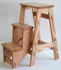 Library Step Stool Chair Combo Wooden Step Stools Foter
