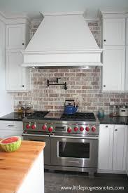 backsplashes for white kitchen cabinets kitchen astounding kitchen with brick backsplash brick veneer