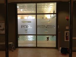 glass door decals stickers 3m etched frosted vinyl window graphic for fitness center