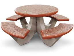 round cement picnic tables commercial round concrete picnic tables belson outdoors