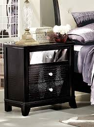 Black Or White Bedroom Furniture Homelegance Jacqueline Upholstered Bedroom Collection Faux