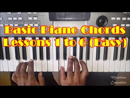 keyboard chords tutorial for beginners basic piano chords for beginners lessons 1 to 6 how to play easy