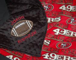 49ers Crib Bedding Nfl Baby Blanket Etsy