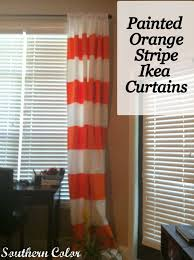 Red Curtains Ikea Southern Color Painted Orange Stripe Ikea Curtains