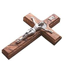 wood crucifix 10 wall wood cross st benedict medal holy